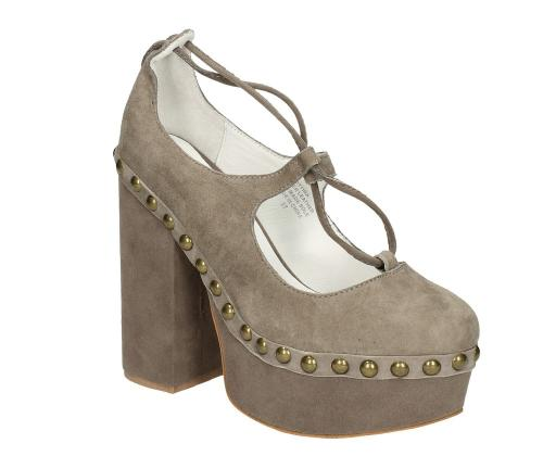 SCARPA JEFFREY CAMPBELL BETTINA COL.TAUPE KID SUEDE